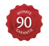 90 Monate Garantie